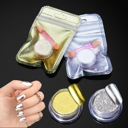 Diy Powder Canada - Belen Magic Mirror Chrome Powder Metallic Gold Silver Nail Powder With Sponge Stick Makeup Dust Nail Art DIY Pigment Glitters