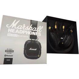 Iphone II online shopping - Marshall Major II Bluetooth Wireless Headphones in Black DJ Studio Headphones Deep Bass Noise Isolating headset for iPhone Samsung