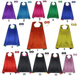 Special holiday giftS online shopping - Cape Mask Sets Kids Christmas Halloween Cloak Masquerade Cosplay Prop Costumes Birthday Party Gifts Cartoon Poncho Double Side CM