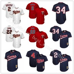 66b287ad6 ... Embroidery Minnesota Twins 34 Kirby Puckett Baseball Jerseys MLB 2  Brian Dozier 4 Miguel Sano Throwback Mens ...