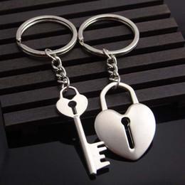 Valentine S Day Gift Keychains NZ - 2017 Hot Novelty Chaveiro Couple Keychain Lovers Heart Key Chain Ring Zinc Alloy Llaveros Trinket Jewelry Valentine S Day Wedding Gift
