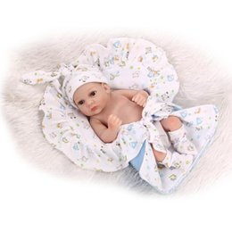 mini full silicone baby doll 2019 - Wholesale- Lovely Mini 11inch Full Vinyl Kids Baby Dolls Lifelike Hobbies Real Looking Silicone Baby Dolls Toys discount