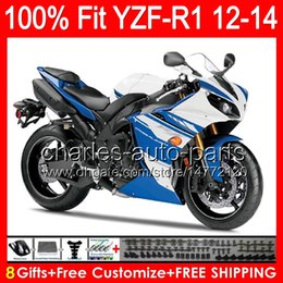 $enCountryForm.capitalKeyWord Canada - gloss white 8gifts Injection For YAMAHA YZF-R1 12 13 14 YZF R1 12-14 96NO112 YZF 1000 YZF R 1 YZF1000 YZFR1 2012 2013 2014 TOP blue Fairing
