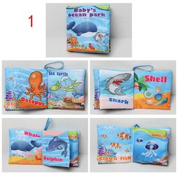 online shopping 6 styles Hot Sales Kids Baby Cloth Books Baby cloth book for Early learning education cloth toys baby fabric book in english fit Y