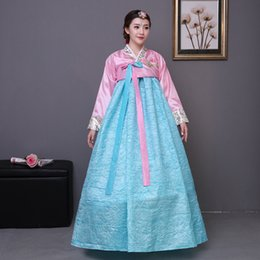 traditional korean women clothing Canada - High Qulaity Korean Hanbok Clothing Women Traditional Hanbok Dress Dance Costume Clothing