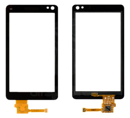 Touch Screen N8 NZ - Touchscreen Digitizer Glass Panel Front Glass Lens Sensor for Nokia N8-00 with Logo Free shipping+tools