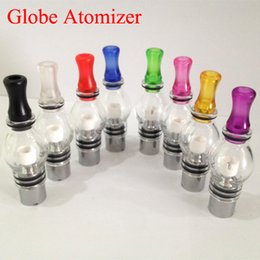 ceramic atomizer for ego t NZ - Rich Colorful Glass Globe Atomizers Dry Herb Vaporizer Replacement Wax Vapor Tank with Metal Ceramic Coil Heads For EGO T E Cigs Battery