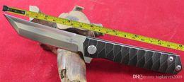 Ingrosso Spedizione gratuita TwoSun D2 lama in lega di titanio impugnatura a sfere rapida apertura tasca coltello pieghevole