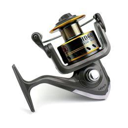 12 Gear Australia - Max Drag Metal Spool Pre-Loading Spinning Fishing Reel 7BB Wheel Fishing 500 1000 2000 3000 4000 5000  6000 Series 5.2:1 4.7:1 Fish Gear