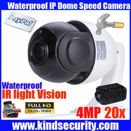 Pan Tilt Camera Wired NZ - Megapixel 4 inch Mini Size Network Onvif 4MP cctv camera ip ptz dome speed dome 20X optical zoom ptz ip camera