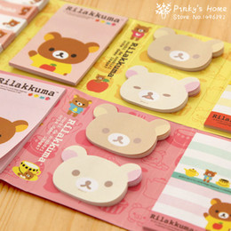 online shopping Kawaii Cartoon Rilakkuma Folding Memo Notepad Note Book Memo Pad Sticky Notes Memo Set Gift Stationery Scrapbook Stickers