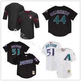 884d104f7 Arizona Diamondbacks Randy Johnson 51 Baseball Jerseys Paul Goldschmidt 44 Mitchell  Ness Black ...