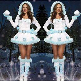 $enCountryForm.capitalKeyWord Canada - 2017 Fashion Spot Hot Sale Ladies Year Santa Cosplay Snowman Costume Movie Cosplay Skirt Clothes Hat Set Clothing