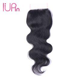 $enCountryForm.capitalKeyWord UK - IUPin Company Indian Virgin Hair Body Wave Closure 1 Piece Raw Indian Body Wave Hair Lace Closure Wet And Wavy Human Hair Extensions