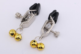 Sex Toys For Pair NZ - New Metal Silver Adult BDSM Sex Toy Fantasy A pair Clamps Clips With Ring with Chain Fetish For Women RYSM-051-C