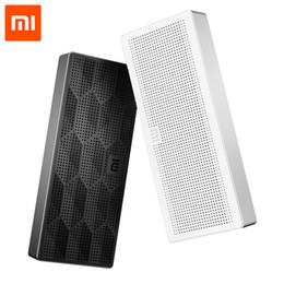 Discount xiaomi mini square box bluetooth speaker Wholesale- Original Xiaomi Square Box Bluetooth Speaker Wireless Portable Stereo Mini Speaker Bluetooth 4.0 for Mobile P