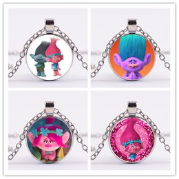 Trolls necklaces online shopping - 10styles Trolls Pendant Necklaces Poppy Branch Biggie Suki Gristle colors vintage Time gem sweater chain gifts for adult and teena