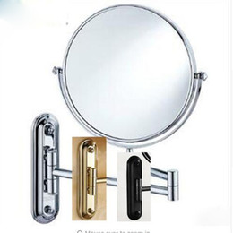 Barato Banheiro Espelho De Maquiagem De Aumento-8 'Black antique bronze / chrome / espelho de maquiagem dourado Wall Mounted Bathroom Mirror Double Side Magnifying Makeup Mirror