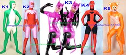 Xl Fox Halloween Costume Pas Cher-Incroyable 5 Style Lycra Spandex Animal Forme Costume Catsuit Costumes Unisexe Fantaisie Chat Fox Costumes Outfit Halloween Partie Cosplay Costume P073