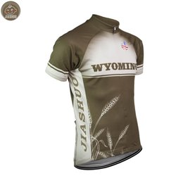 Team Usa Clothing UK - Customized NEW 2017 USA WYOMING WHEAT Classical JIASHUO mtb road RACING Team Bike Pro Cycling Jersey   Shirts & Tops Clothing Breathable