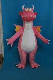 Traje De Mascota De Dinosaurio Rosa Baratos-Nuevo Pink Dragon Mascot Dinosaur Costume Fancy Birthday Party Dress Halloween Carnavales Disfraces Con Alta Calidad Envío Gratis