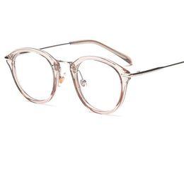 4a3d3e7e2a2 plastic round framed eyeglasses 2018 - High Quality TR Frame Fashion  Glasses Women Eyeglasses frame Vintage