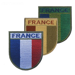 d39e85294ca 3pcs Embroidery France Flag Brassard Cloth Tactical Patch Morale Armband  Hook Loops Shoulder Patches Army Combat Badge