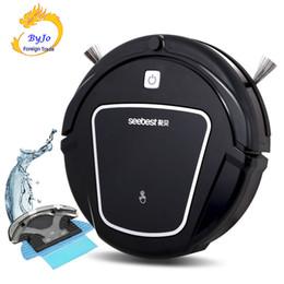 Seebest D730 Limpo Robô Aspirador com Wet / Dry Mop tanque de água e Horário Auto de recarga inteligente Cleaner Seebest D730 MOMO 2.0 em Promoção