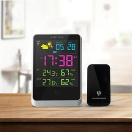 ceramics clocks 2019 - Wholesale- Weather Station Indoor Outdoor Digital Alarm Clock With LED Screen Date Time Displaying cheap ceramics clocks