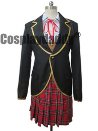 Wholesale rwby cosplay for sale - Group buy RWBY Ruby Ruby Rose Weiss Schnee Yang Xiao Long School Uniforms Cosplay Costume