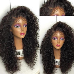 affordable lace wigs Canada - Silk Base Kinky Curly Wigs Affordable Curly Full Lace Wigs with Lace Frontal Baby Hair Thick Front Lace Wigs Vingin Human Hair