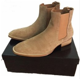 China 2017 NEW style Top quality 5color euro 37-46 designer men shoes luxury brand Chelsea mens boots shoes supplier luxury microfiber suppliers