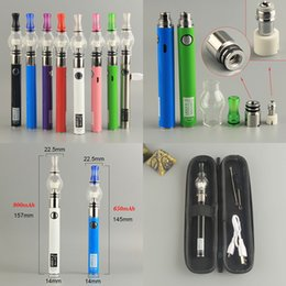 evod globe pen NZ - E Cigs Dab Wax Oil Shatter Tank Vapes Pen Glass Globe Dry Herb Vaporizer Evod UGO Micro USB 650 900mAh Battery Starter Kit