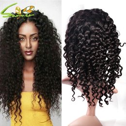 Deep Curly Indian Lace Wig Australia - Curly Lace Front Wig With Deep Parting Brazilian Full Lace Front Wigs Human Hair With Natural Color In Stock