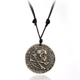 $enCountryForm.capitalKeyWord UK - H&F Vintage Necklace PS4 Uncharted 4 A Thief's End Metal Pendant Necklace Limited Collection Pirate Gold Coin Game Rope Necklace