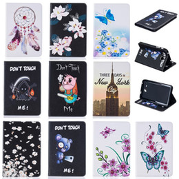 $enCountryForm.capitalKeyWord Canada - Tablet case For Samsung Galaxy Tab A 7.0 T280 T285 2016 Cover Wallet Stand Leather Case With Card Slots Painting Butterfly tower