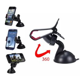 Rotating Tablet Stand Australia - 360 Degree Rotating Car Phone Windshield Sucker Mount Bracket Holder Stand Universal for Phone GPS Tablet PC Accessories OPP bag