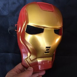 Barato Fantasia De Super-heróis Pvc-Marvel Superhero The Avengers Costume Mask For Party Mardi Gras Costume Prop Christmas Holloween Ball One Size Suitable For Most Express