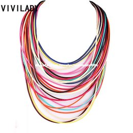 multilayer chains UK - VIVILADY Statement Multilayer Rope Necklaces Women OL Magnet Fashion Collar Chain Jewelry Party Accessory Bijoux Christmas Gifts