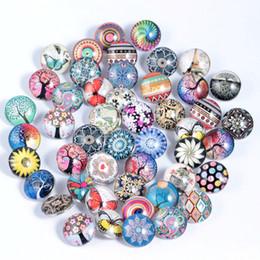 Monili economici per la collana bottone a pressione 18mm Ginger vetro strass all'ingrosso gioielli fai da te accessori per bracciali in pelle bracciali in Offerta