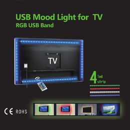 Led backLight tv 3528 online shopping - LED Strip Lights RGB SMD TV Backlight Kit CM USB Powered V Waterproof IP65 Lamp Remote Controller Direct Shenzhen China Wholesales
