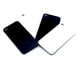 bcd89a1e53b Vidrio trasera cubierta de la carcasa trasera para iPhone 4 4G 4S batería  de cristal caja de la puerta Nueva alta calidad piezas de repuesto venta al  por ...