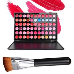 $enCountryForm.capitalKeyWord NZ - Wholesale- 66 Colors Lip Gloss Matte Lipstick Makeup Palette + Flat Contour Cosmetic Brush Lady Sexy Lips Make Up Tool Maquiagem