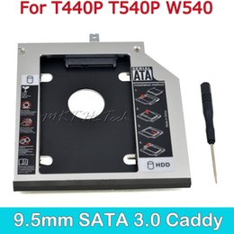 Thinkpad hdd caddy online shopping - High Quality Second HDD Caddy MM SATA to SATA for quot SSD Hard Disk Case for Lenovo ThinkPad T440P T540P W540 Optical Bay