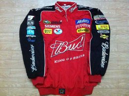 China Embroidery F1 FIA NASCAR IndyCar V8 Supercar MOTO GP Racing Cotton Jacket Motorcycle Rider Jacket For Budweiser Jacket A08 suppliers