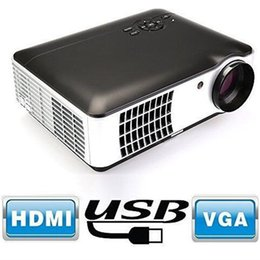 Home Multimedia Player NZ - Wholesale-LED Projector 1280*800 2800 Lumens 3D Projector + VGA HDMI Cable for Gift for Home Theater Cinema Multimedia Player