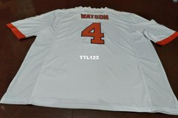 ... men clemson tigers 4 deshaun watson replica orange white football jersey  or custom any name or bd7e3e2b1