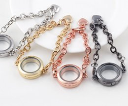 silver lockets for girls NZ - 2017 Newest Style DIY 25mm Silver Round Circle Living Memory Floating Charms Locket Bracelet Gifts for Women Girls