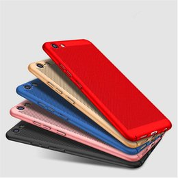 Mesh Iphone Case Black Australia - Ultra-thin Heat Dissipation Case Hybrid Matte Slim Hard PC Mesh Cases Cover For iPhone X 7 plus 6 6s plus 5s se samsung s8 s8 plus