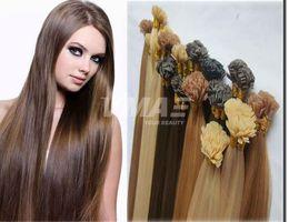 $enCountryForm.capitalKeyWord Australia - Top Quality Virgin Remy Hair Straight Flat Tip Keratin Fusion Human Hair Extension Pre Bonded Remi Hair VMAE Extensions Free Ship
